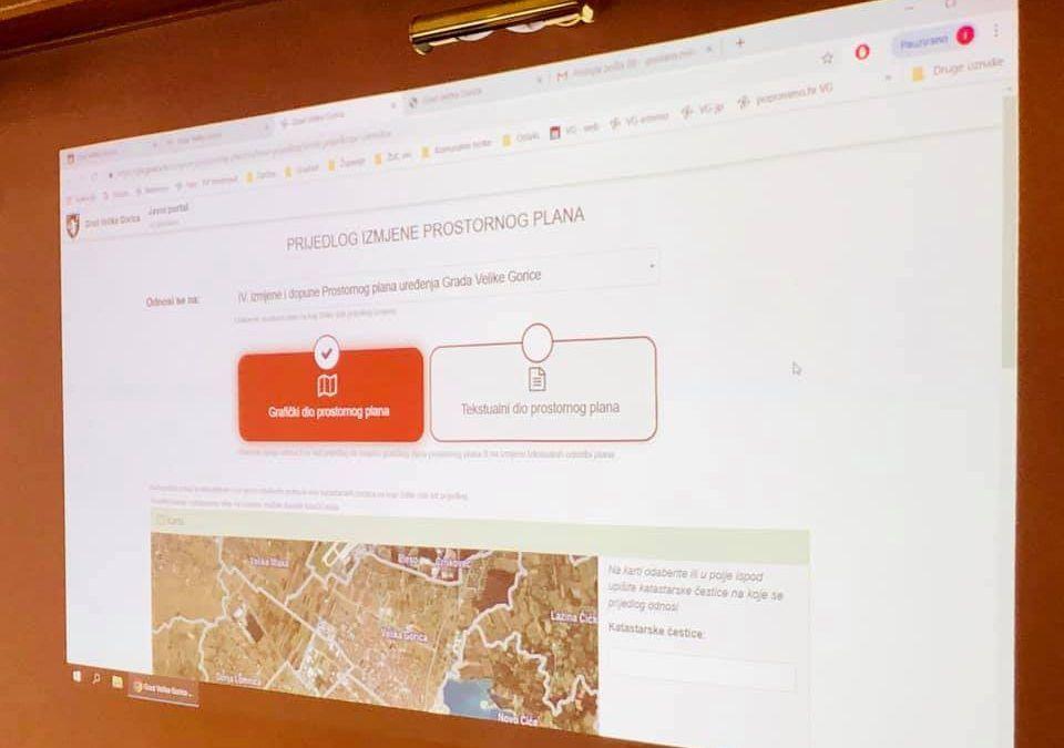 Velika Gorica: Prvi uveli online predlaganje izmjena prostornog plana – u mjesec dana broj prijedloga povećan za sedam puta!