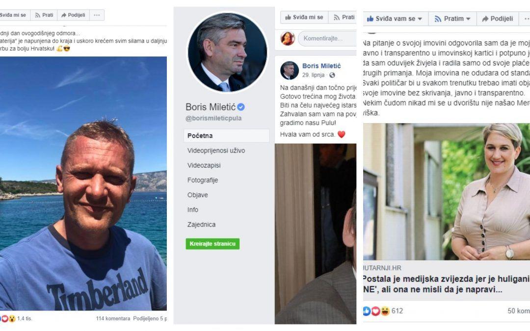 'Kraljevi' Facebooka Boris Miletić, Ivan Penava i Krešo Beljak, Ivana Marković ima više fanova nego Supetar stanovnika