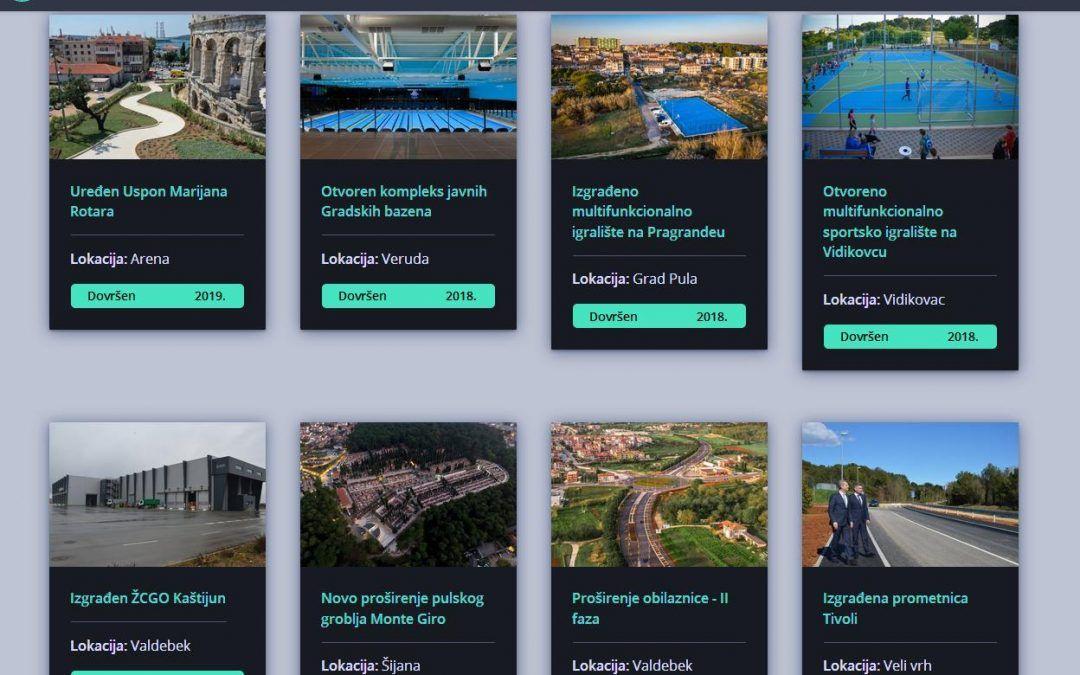 Pula: Nova aplikacija za brži pregled gradskih projekata