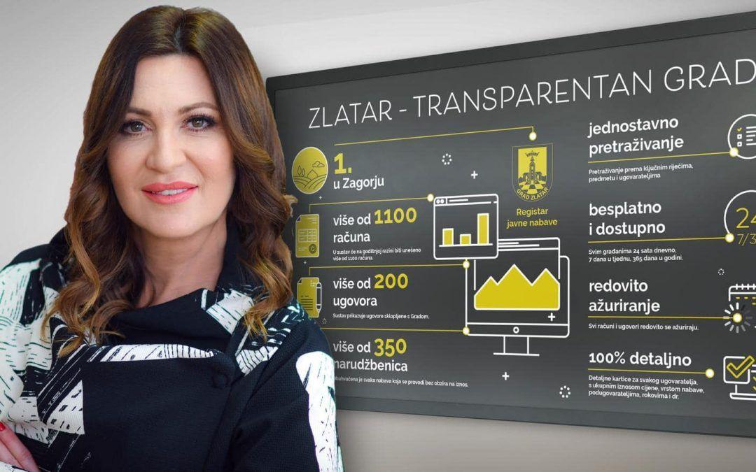 Zlatar prvi zagorski grad s transparentnim financijama – na web stranici Grada za javnost vidljive sve fakture, narudžbenice, ugovori..