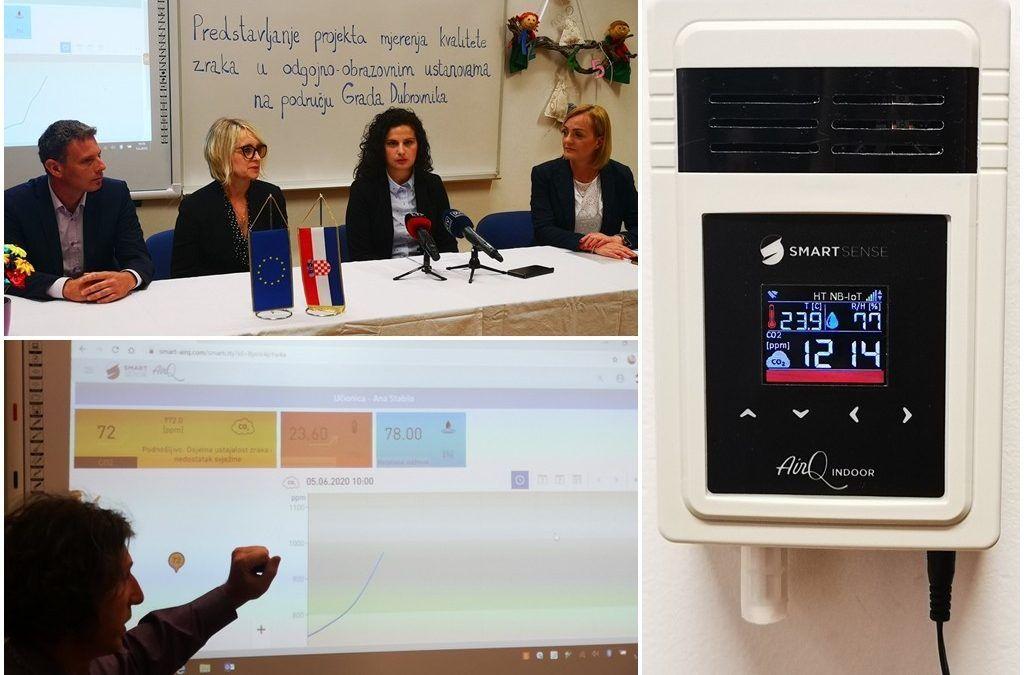Dubrovnik prvi u Hrvatskoj u vrtiće i škole postavio senzore za mjerenje kvalitete zraka