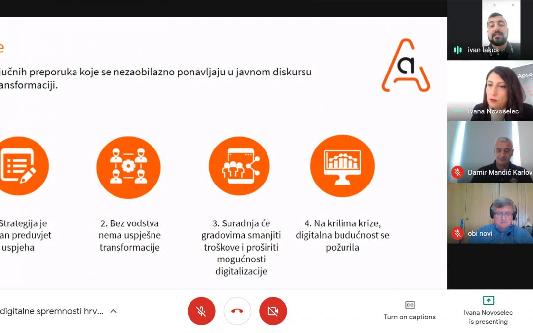 Mandić i Obersnel na webinaru o digitalnoj spremnosti gradova: Ključni cilj što veća transparentnost i otvaranje podataka građanima
