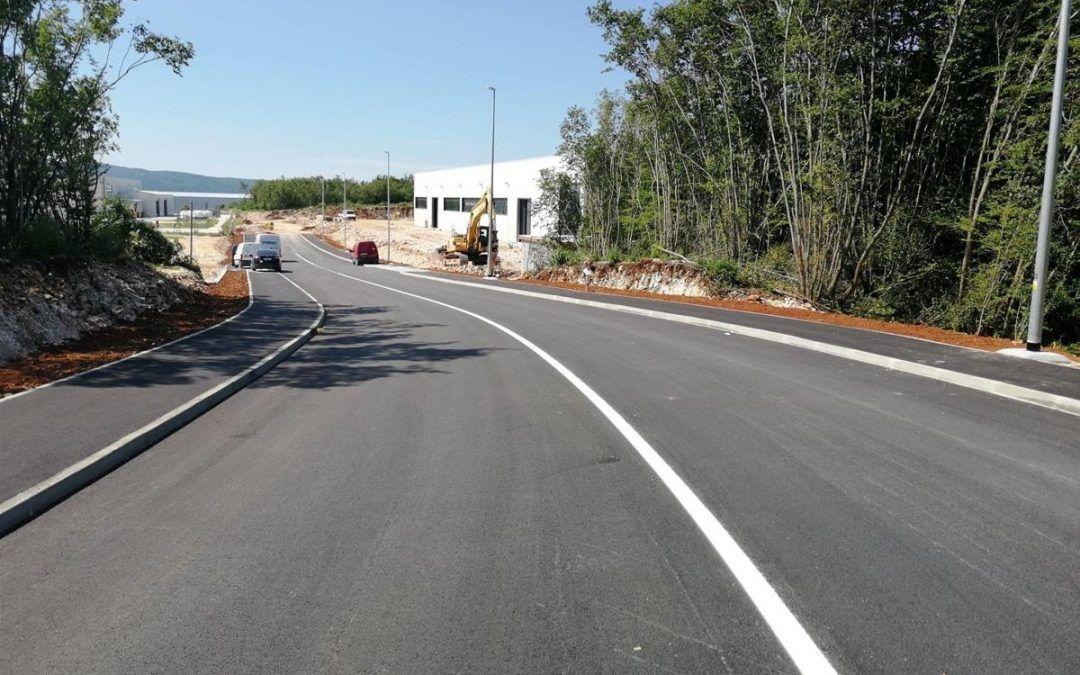 Labin: U poslovnoj zoni Vinež izgrađena nova prometnica s pripadajućom infrastrukturom