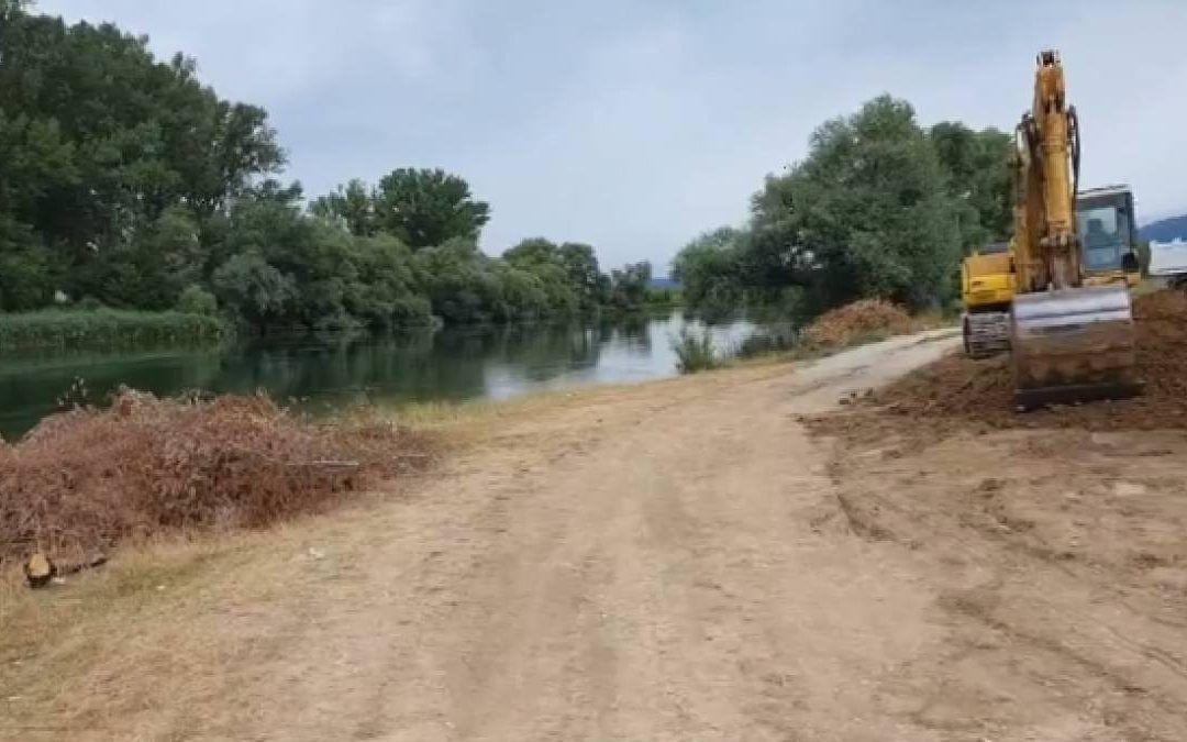 Trilj: Uređuje se plaža 'Drinić Veliki' na Cetini, radovi vrijedni 780.000 kuna