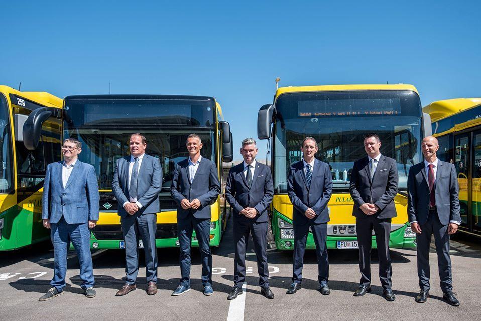 Pula: Novim autobusima i punionicom na stlačeni prirodni plin osiguran ekološki prihvatljiv i visokokvalitetan javni prijevoz