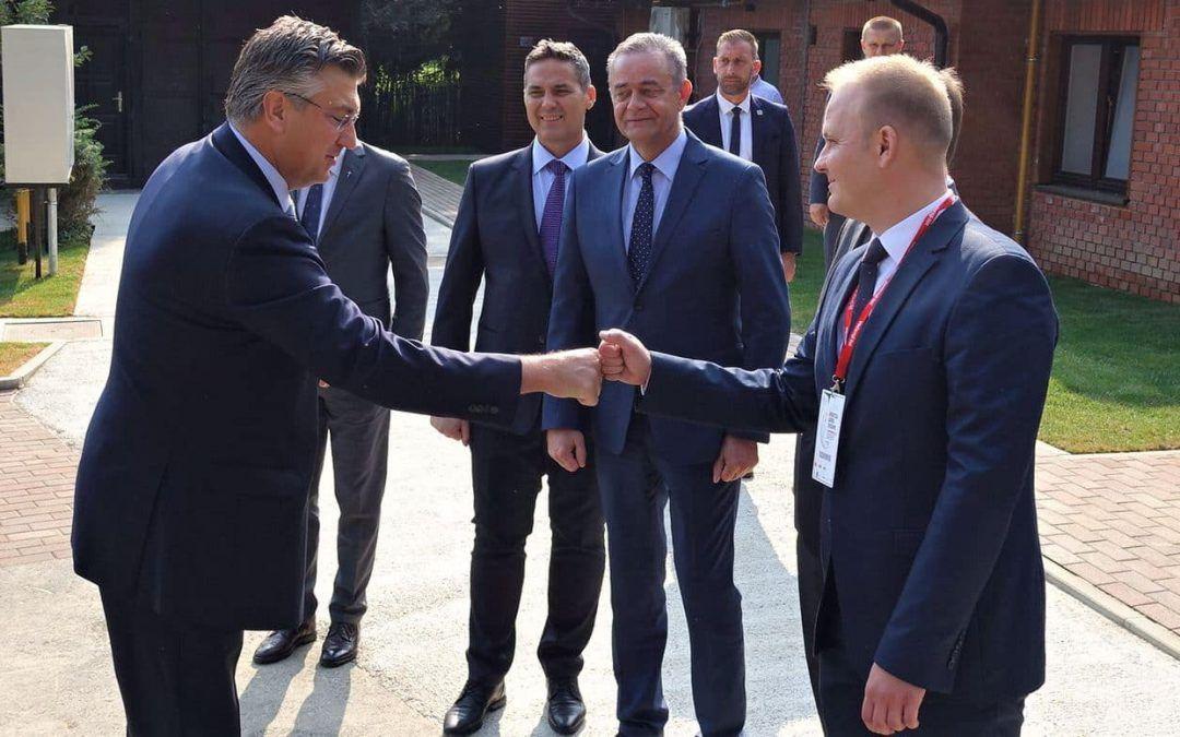 Koprivnica: Gradonačelnik Jakšić na radnom sastanku sa premijerom Plenkovićem