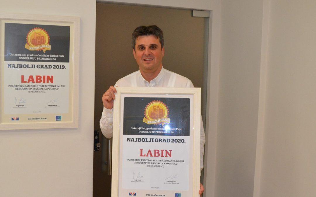 Trudimo se da Labin bude grad u kojemu će naša djeca odgajati svoju djecu i u tome uspijevamo – vjerujem da ćemo i iduće godine biti među najboljima