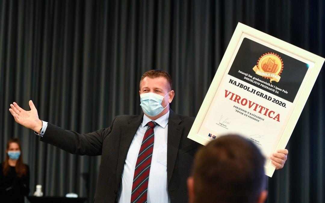 Virovitica je 'Šampion EU fondova': 'Uspijevamo konkurirati velikim gradovima, EU sredstvima podižemo kvalitetu života svih naših građana'