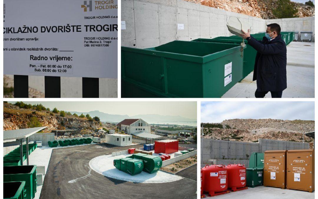 Trogir: Otvoreno reciklažno dvorište u EU projektu vrijednom 5.8 milijuna kuna, građani besplatno mogu donijeti otpad – od papira i stakla do krupnog i građevinskoga