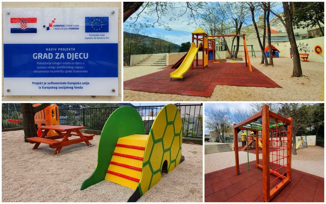 Dubrovnik: EU sredstvima uređeno i opremljeno igralište dječjeg vrtića Pčelica