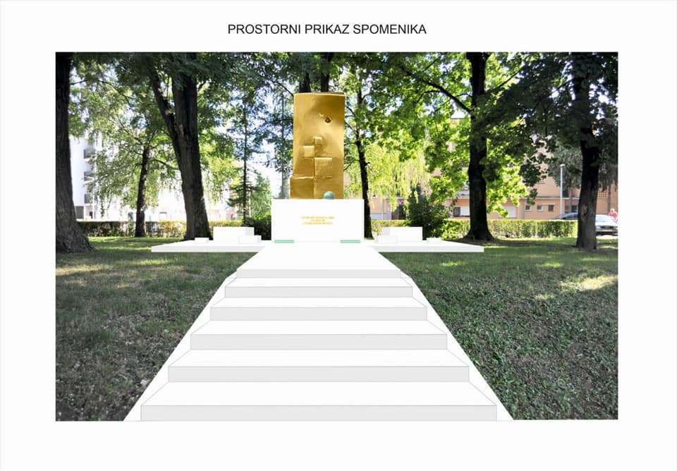 Vinkovci: Započeli su radovi na spomeniku hrvatskim braniteljima u Lovretićevoj ulici