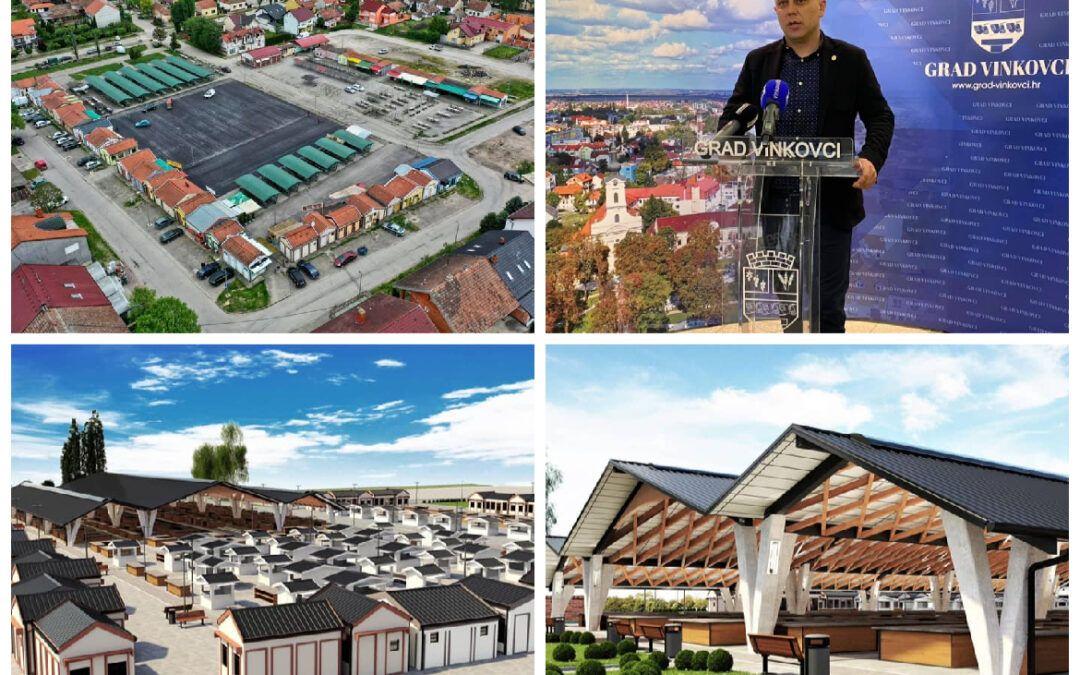 Vinkovci: U tijeku radovi na uređenju Gradske tržnice s čak 48 novih štandova, uskoro natkrivanje i kompletna rekonstrukcija