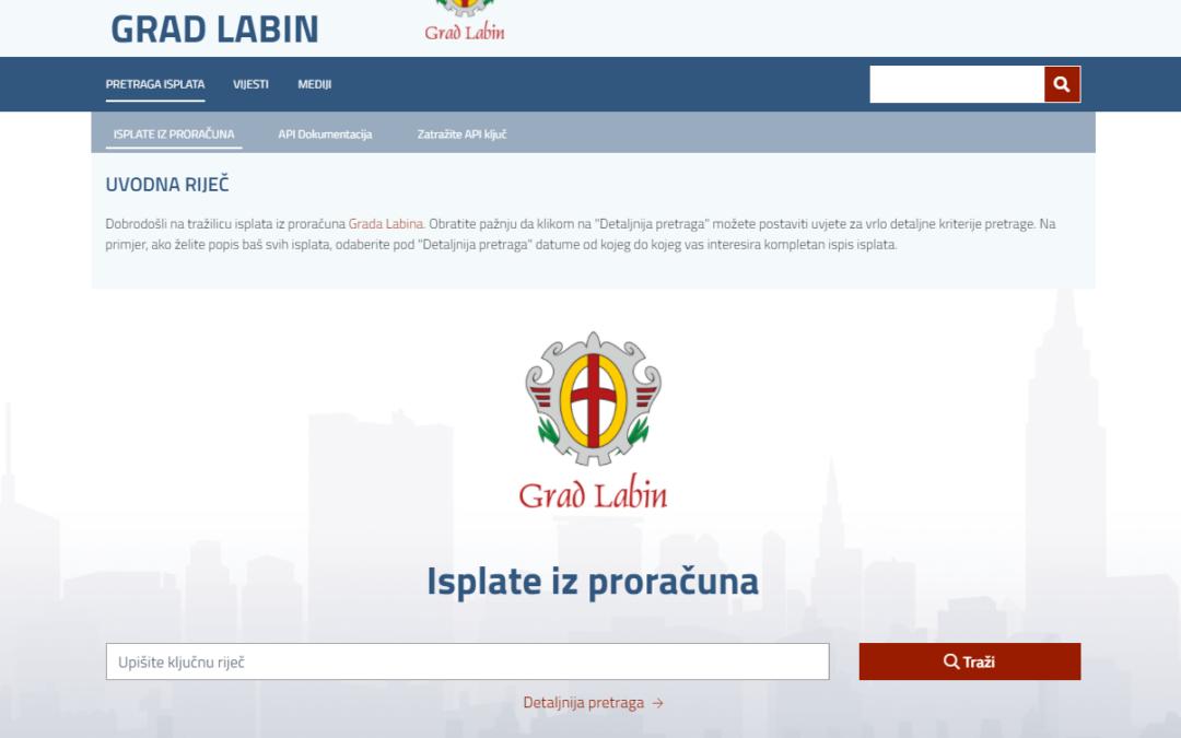 I Labin građanima otvorio financije: Preko aplikacije omogućen uvid u sve gradske troškove i račune